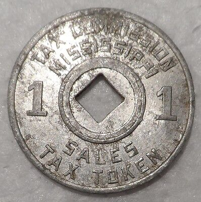 Vintage Mississippi State Metal Token Coin, to make change for correct Sales Tax