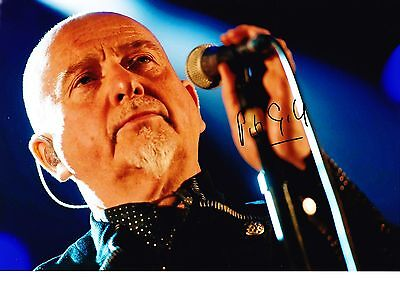 "Peter Gabriel Hand Signed Autograph 12X8"" Photo With Coa"
