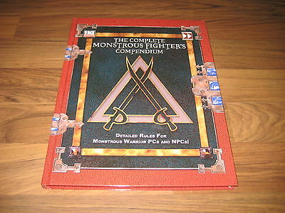 d20 The Complete Monstrous Fighter's Compendium Accessory 2003  HC Fast Forwand