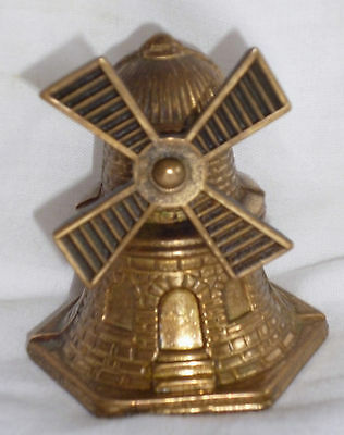 "Vintage Brass  "" Windmill Bell ""    Sails Rotate"
