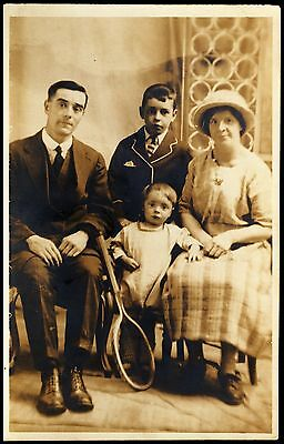 Postcard - Old  Photograph Of A Family Unposted