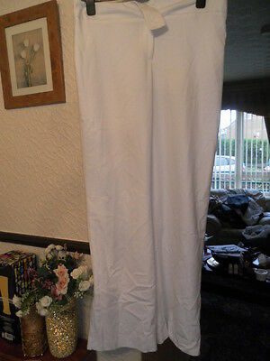 Ladies fully lined white trousers size 14 nwot