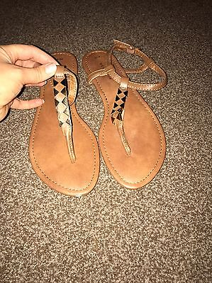 Tan Sandals New Look Size 5