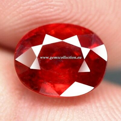 Aaa - Spessartite Garnet  Ct 4.76 Oval Cut Origin Namibia Africa  Very Good