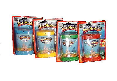 The Amazing Live Sea-Monkeys Ocean Zoo red blue yellow green. Color may vary