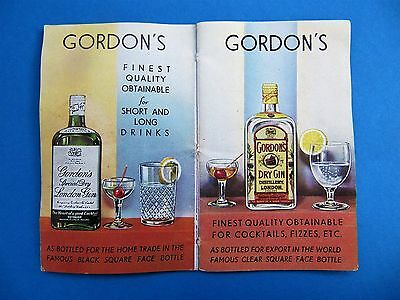 Extremely Rare 1950 Pocket Book Of Gin Cocktails Tanqueray Gordons