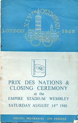 London 1948 Olympics Closing Ceremony Official Programme Empire Stadium Wembley
