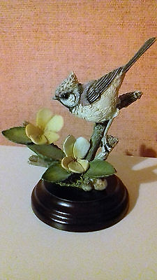 Great Crested Tit on Viola Country Artists 01988 - ideal Bird Christmas present