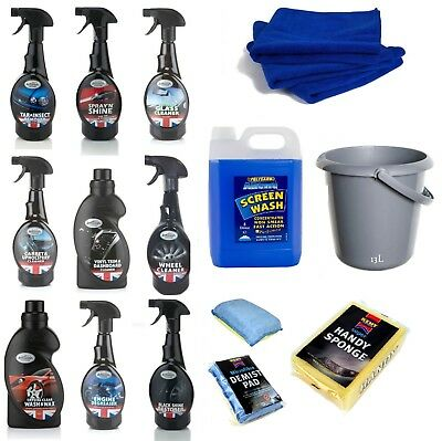 The Complete Car Cleaning Kit - Cleaning, Wash & Wax, Shine Restorer - Bucket