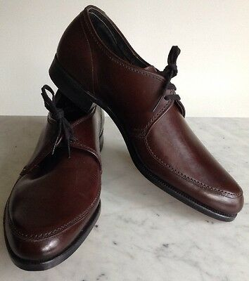 Vintage 1940's Leather Brown Johnsonian Dress Shoes Mens 7D Women's 8D USA Made