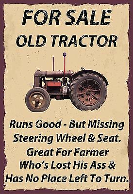 For Sale Old Tractor,agriculture ,a5 Size,vintage Style, Enamel Metal Sign,443