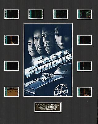 Fast and Furious 4 35mm Film Cell Display