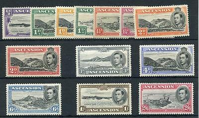 Ascension 1938-53 short set to 2/6 SG38b/45c (exc 3d ultra) MM cat £106
