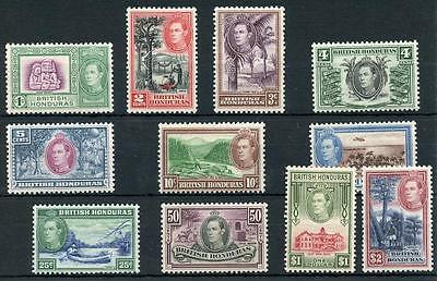 British Honduras 1938-47 short set to $2 SG150/61 MM