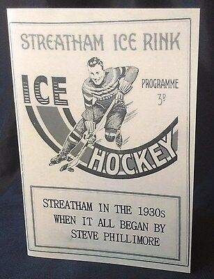 History of Streatham Ice Hockey 1930's Booklet Brand New Only 200 Printed