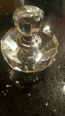 pretty faceted cut glass perfume dabber