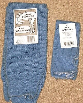 Carolina Blue 2 pair of leg Warmers made in USA  NWT Bulky knit and warm FREE SH