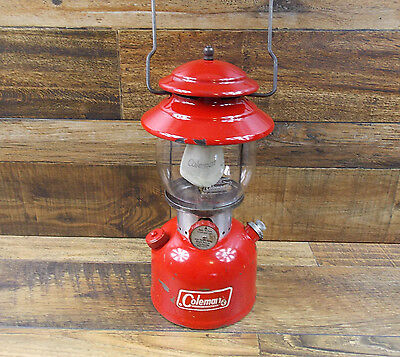 Vintage Coleman 200A Single Mantle Red Lantern Dated 3/70 Tested