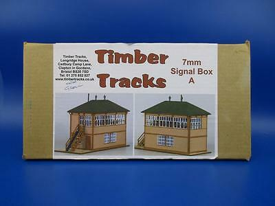 TIMBER TRACKS 7mm FINESCALE O GAUGE T7BGWSBA SIGNAL BOX KIT