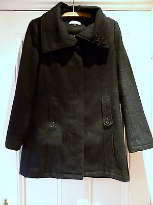 Girls classic black long jacket in wool age 13-14 years