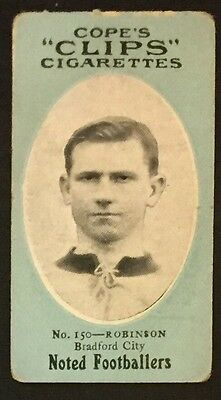 Cope's Clips Football 1910 George Robinson Bradford City Nottingham Forest