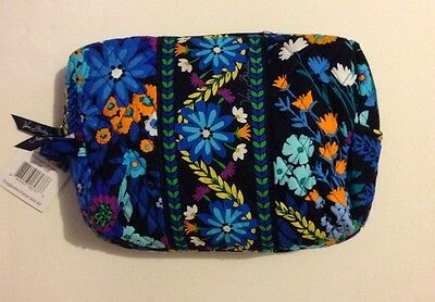 NWT Vera Bradley Travel LARGE Large Cosmetic Bag In Midnight Blues