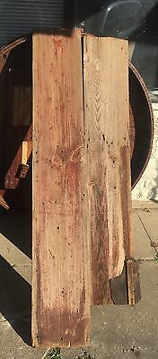 """Antique 12"""" Wide Red Barn Wood (1 Piece) 12"""" Wide X 70"""" Long"""