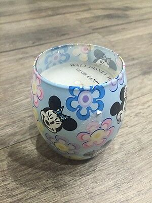 Minnie Mouse Glow Candle Walt Disney World Theme Park Glass Container Rare