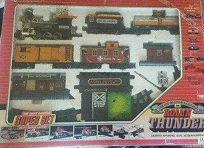 New Bright Rio Grande Railroad Roll'n Thunder Train Set