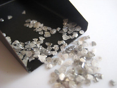 White Slices Natural Rough Raw Chips Uncut Diamond 2-5mm 5 Carat Weight PU34