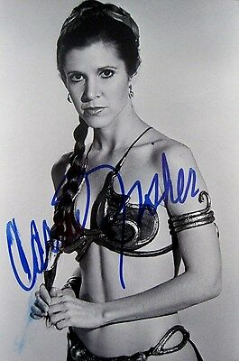 Carrie Fisher Signed Autographed Photo. Star Wars. Jedi. Force Awakens. Leia.