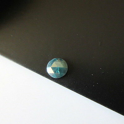 Blue Rose Cut Loose Rough Diamond Raw Faceted Cabochon 4mm SKU-DDS120/1