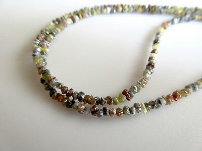 4 Inch White Yellow Red Raw Uncut Rough Loose Diamonds Chips 1.5-3mm Beads GK35