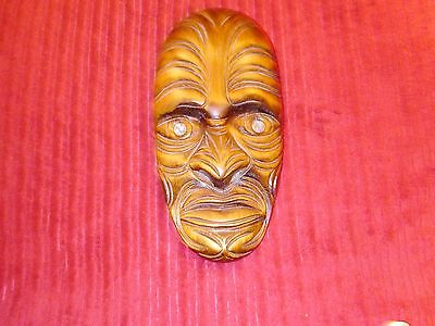 hand carved mask made in New Zealand