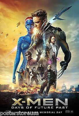X-MEN DAYS of FUTURE PAST MOVIE POSTER DS 27x40 2 sided xmen wolverine