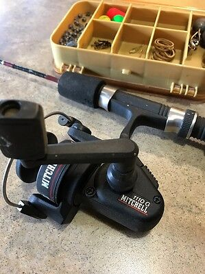 MITCHELL 1110 G  Ice Fishing Rod And Reel With Tacklebox And Tackle