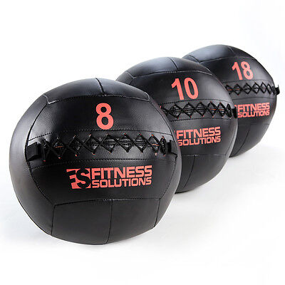 Wall Ball 8 LB Fitness Solutions Med Ball Medicine weighted fitness Ships Free!