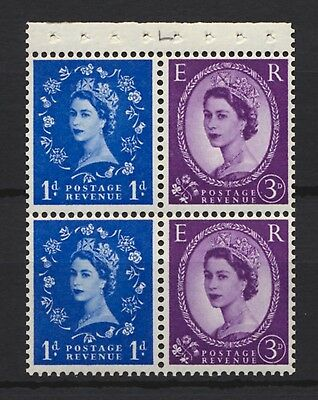 1965 SG611m Booklet Pane No. 611a x2 se-tenant with 615d x2 Mounted Mint