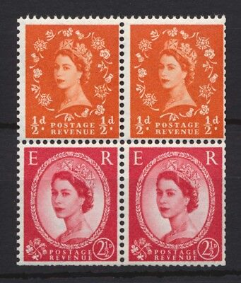 1963 SG570n Booklet Pane. No. 570k x 2 se-tenant with 574k x2 Unmounted Mint