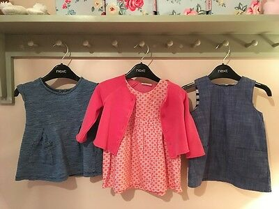 Gorgeous Next baby girl dresses and cardigan - 3-6 months