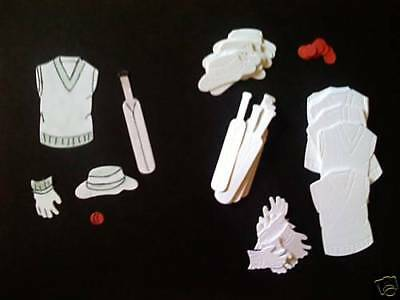 50 Piece Cricket Die Cuts/Toppers set for mens cards