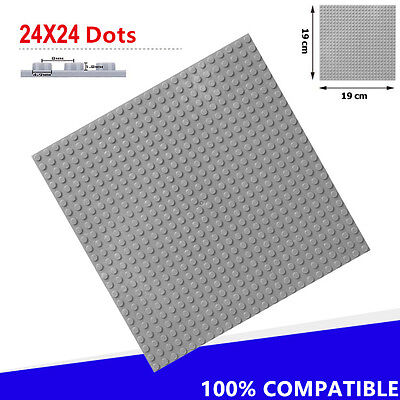 19*19cm 24*24Dot ABS Plastic DIY Baseplate for Minifigures Building Blocks Toys