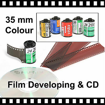 35mm Colour Film Developing & CD with FREE P&P
