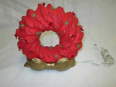 Vintage ceramic light up Christmas Wreath