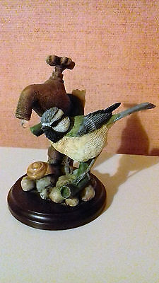 Bluetit with tap (+ drip) - Country Artists 03097 - ideal Bird Christmas present