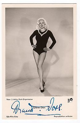 Diana Dors 1931-84 English actress. Terrific genuine signed picture postcard