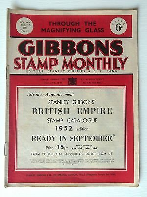 Gibbons Stamp Monthly Aug 1951-Modern Postmarks Of Bermuda,heraldic Lion Stamps