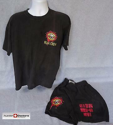 Guns N' Roses CREW-ONLY TOUR SHIRT & SHORTS GNR SLASH AXL Use Your Illusion FILM