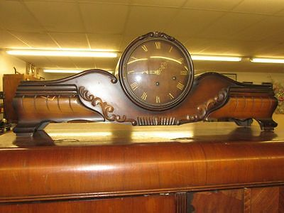 Antique Franz Hermle Westminster Chime Queensway Style Mantle Clock