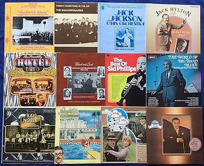 """JAZZ JOB LOT / COLLECTION UK BANDS-SWING-BIG BAND 39x12"""" VINYL LPs MOSTLY M & EX"""